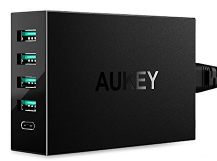 promotion chargeur usb c quick charge aukey