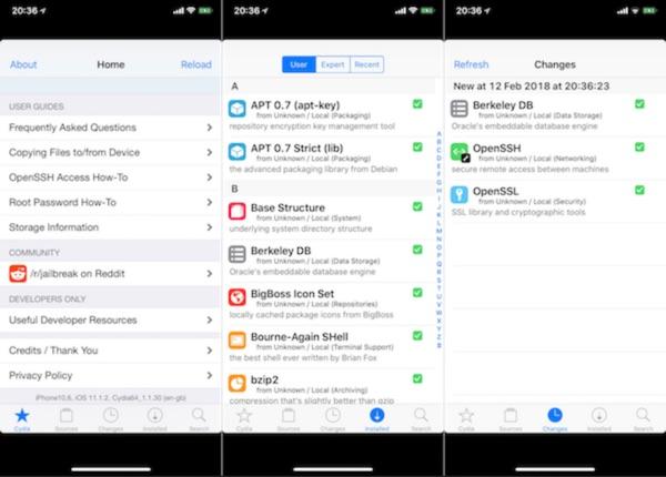cydia fonctionne avec le jailbreak ios 11 sur iphone x