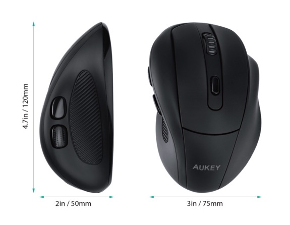test de la souris ergonomique aukey km w9 version am lior e info idevice. Black Bedroom Furniture Sets. Home Design Ideas