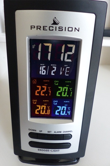 test thermometre precision multi capteurs