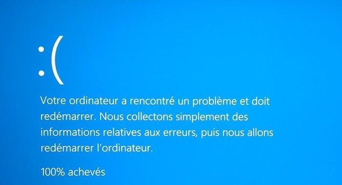 bsod ecran bleu erreur windows