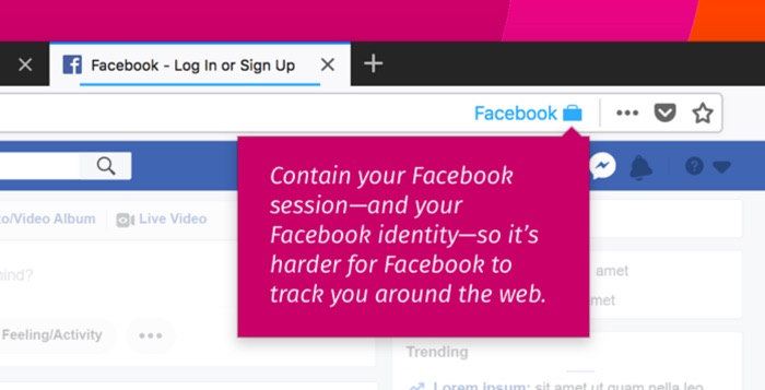 extension firefox container facebook