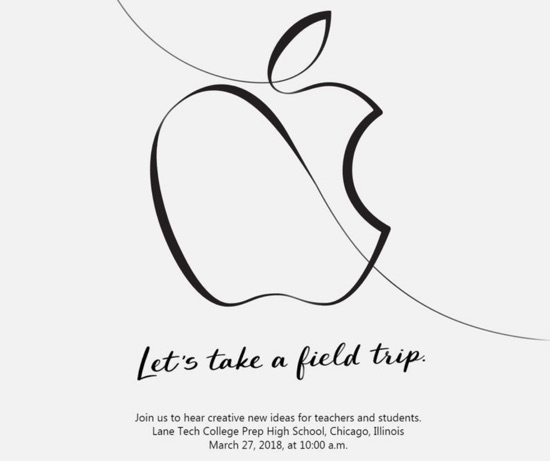 invitation keynote apple education 27 mars 2018
