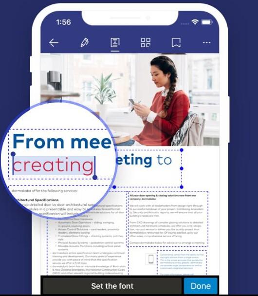 modifier document pdf avec pdfelement sur iphone
