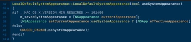 code webkit indique un mode sombre pour macos 10.14