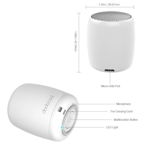 dodocool mini enceinte bluetooth kit mains libres