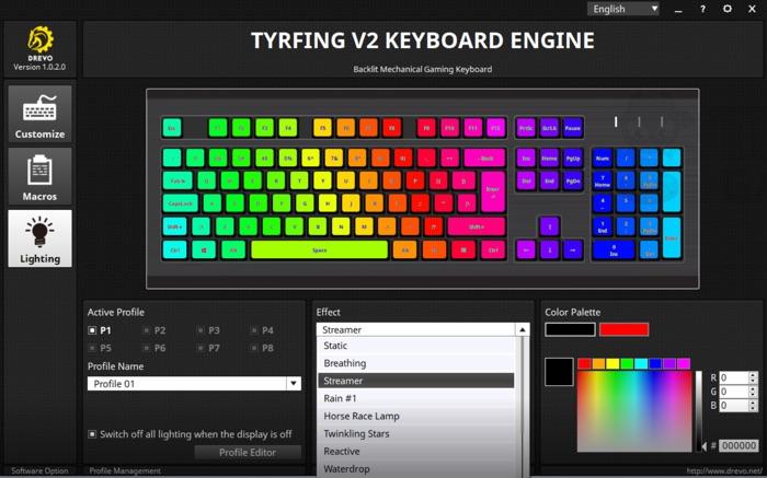 logiciel gestion clavier drevo tyrfing v2