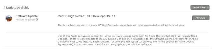 macos 10.13.5 high sierra beta 1