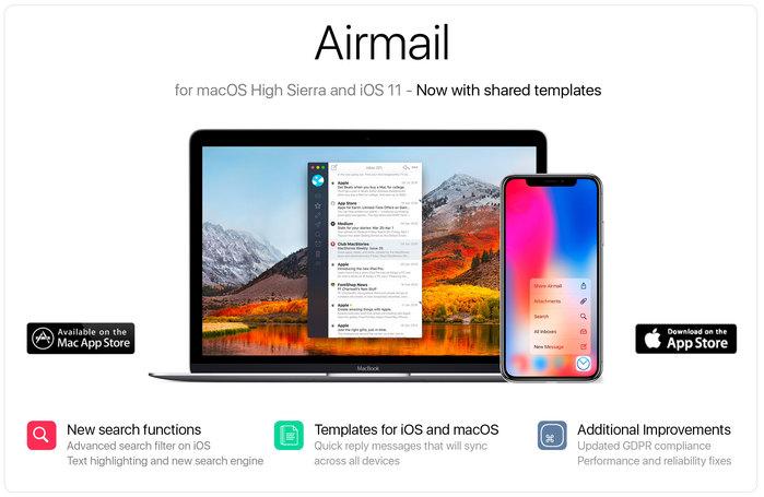 nouvelles fonctions airmail ios et mac