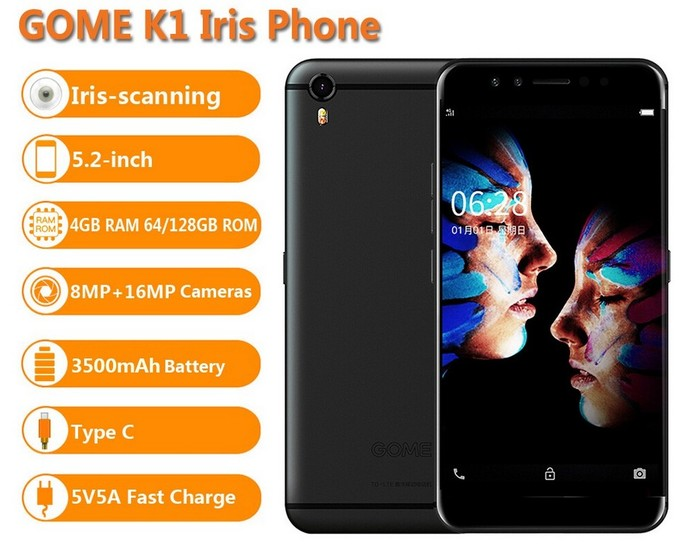 smartphone android gome k1
