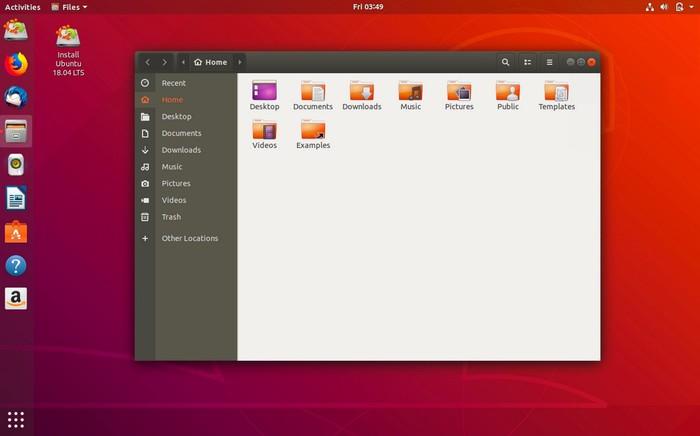 ubuntu 18.04 bureau gnome