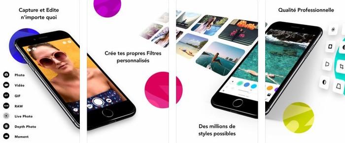 nouveautes app photo infltr