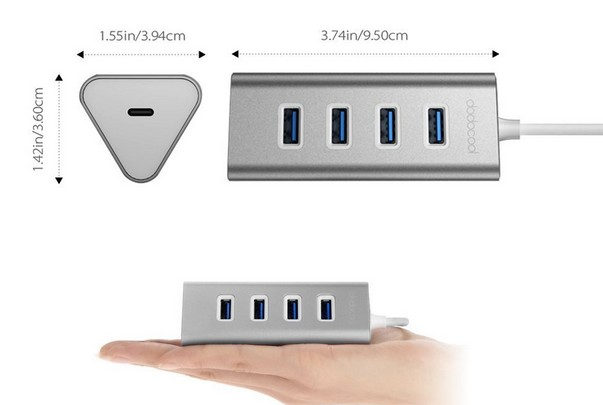 hub usb type c dodocool pour macbook