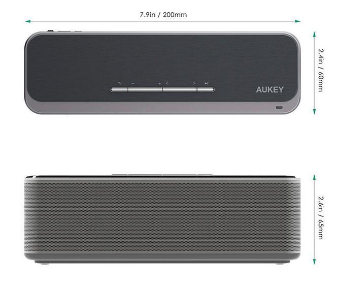 dimensions enceinte bluetooth aukey sk-s1