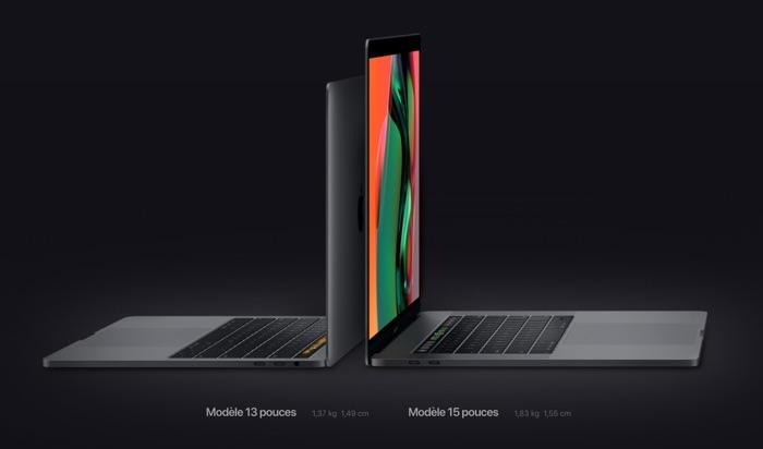 nouveau macbook pro 2018 13 et 15 pouces
