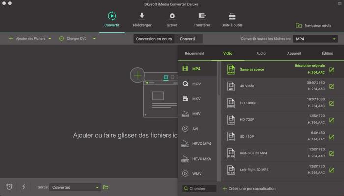 convertir video sur mac avec iskysoft imedia converter deluxe