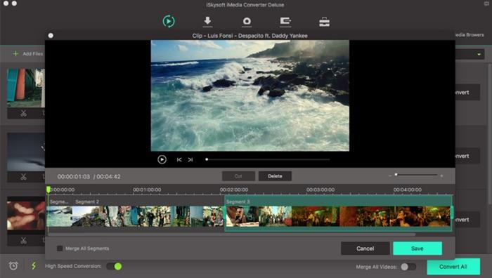 decouper une video avec iskysoft imedia converter deluxe