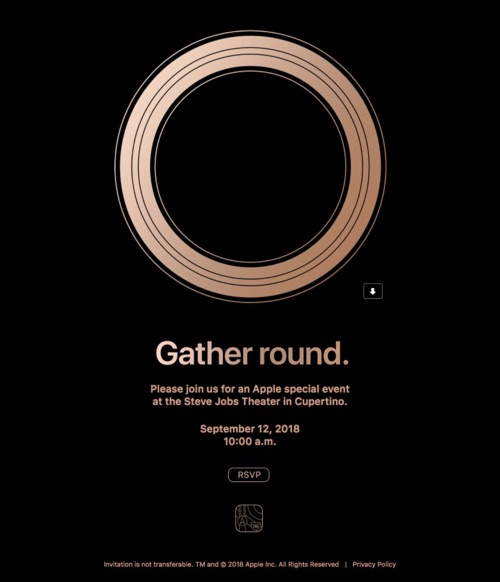 invitation keynote apple 2018