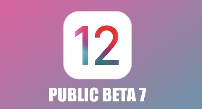 ios 12 beta 7 pour testeur public