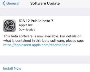 ios 12 beta 7 public