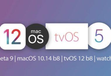 ios 12 beta 9 macos beta 8 tvos 12 beta 8 watchos 5 beta 8