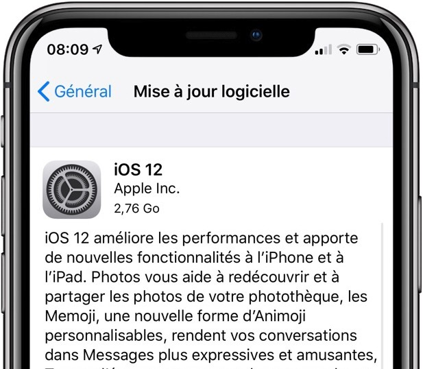 ios 12 gm pour iphone et ipad