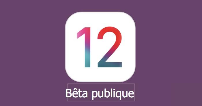 mise a jour ios 12.1 beta publique