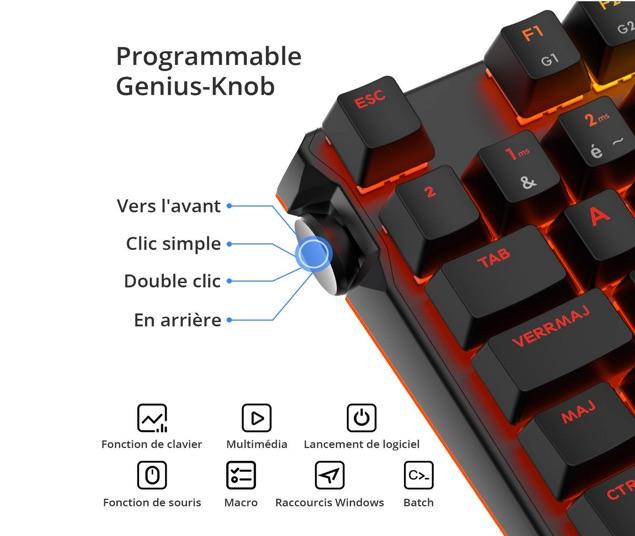 bouton programmable genius knob