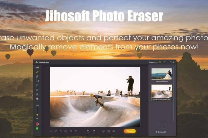 logiciel retouche photo Jihosoft photo eraser