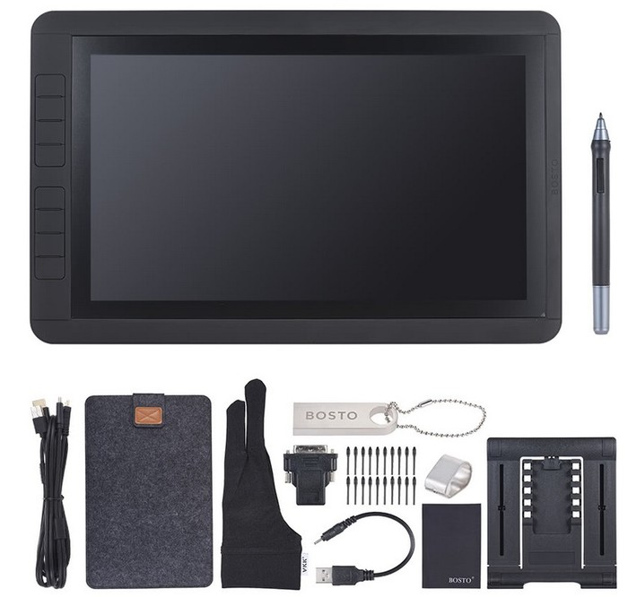 equipement tablette graphique bosto 13hd