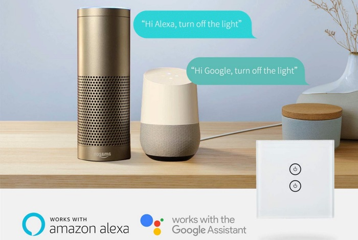 interrupteur meross compatible alexa et google assistant