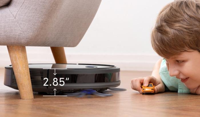 robot aspirateur eufy robovac 30c passe sous les meubles