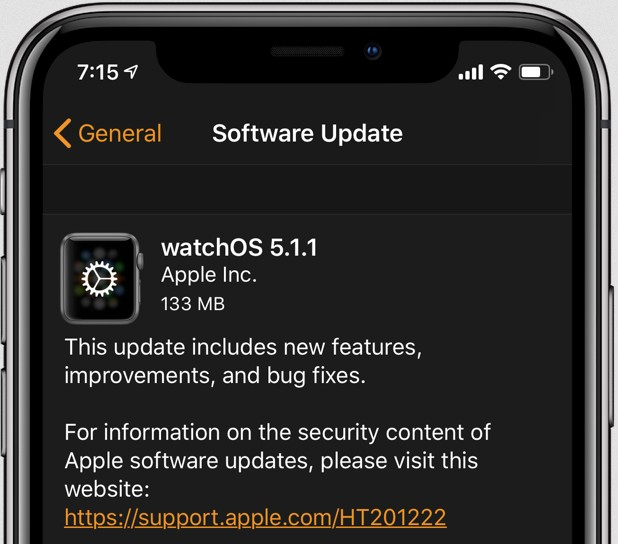 watchos 5.1.1 corrige le blocage apple watch