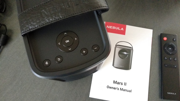 boutons projecteur nebula mars 2