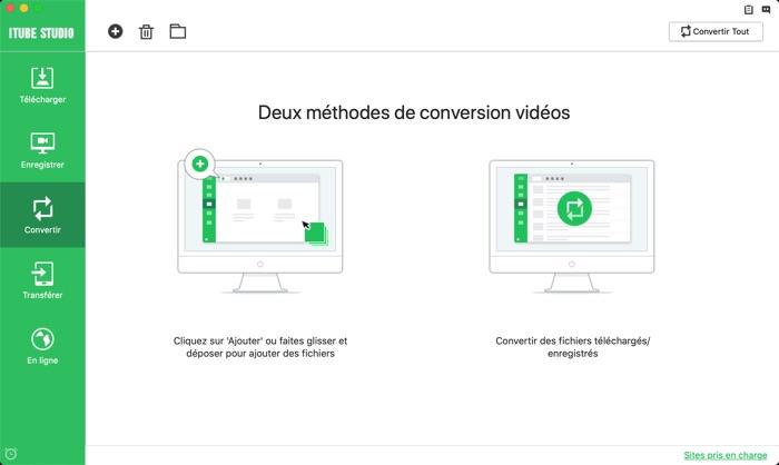 conversion video avec itube studio