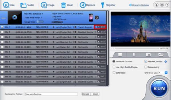 editer video avec macx dvd ripper pro