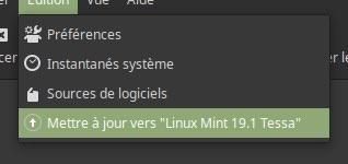 mettre a niveau linux mint 19.1