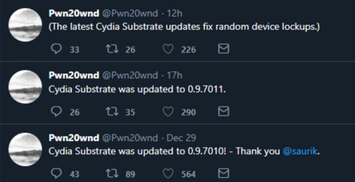 mise a jour cydia substrate 2.9.7011