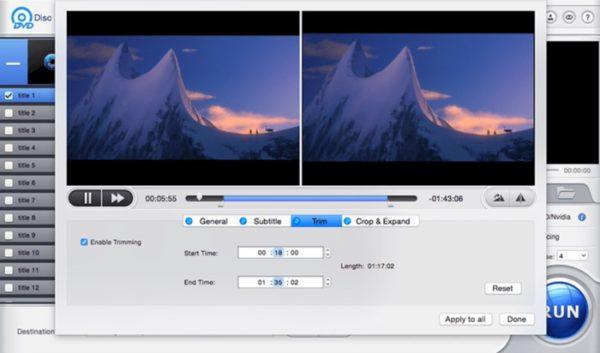 redimensionner video avec macx dvd ripper pro