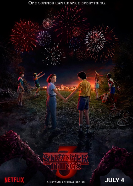 affiche officielle stranger things saison 3