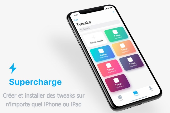 application supercharge creation de tweaks pour iphone et ipad