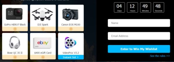 concours videoproc gagner gopro hero7 dji spark