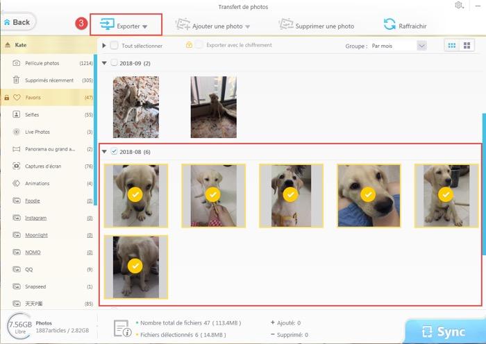 exporter photos iphone vers ordinateur avec mediatrans