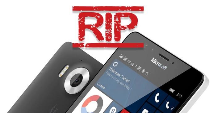 fin de windows phone 10 mobile