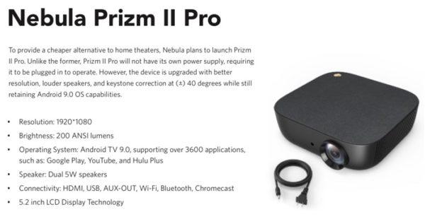 projecteur anker Nebula Prizm II Pro