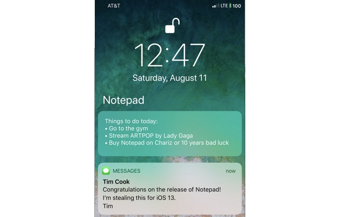 tweak notepad prise de note iphone