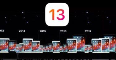 compatibilite iphone ipad avec ios 13