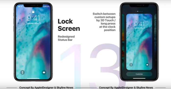 lockscreen customisation ios 13