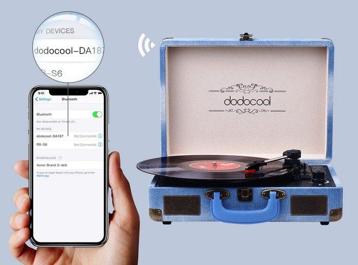 dodocool da187 tourne disque bluetooth