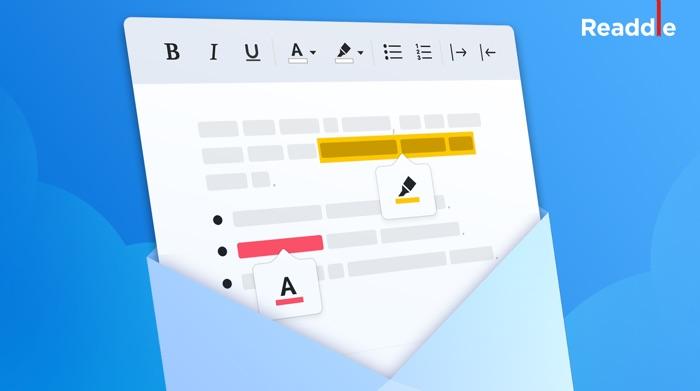 spark permet la mise en forme du texte dans les emails